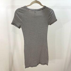 Black & White Striped Shirt Dress